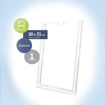 Display de Acrílico para Parede  Tam. A4 Porta Folha 21x30 cm